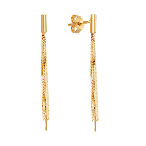 Made In Italy Limited Quantities! 10K Gold Drop Earrings