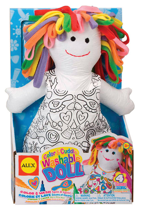 ALEX Toys Craft Color and Cuddle Washable Doll