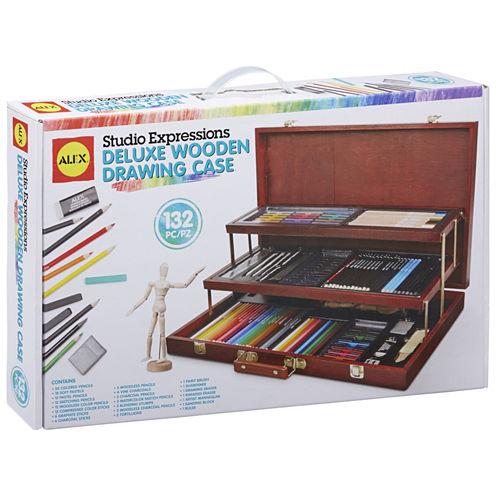 ALEX Art Studio Expressions Deluxe Wooden DrawingCase