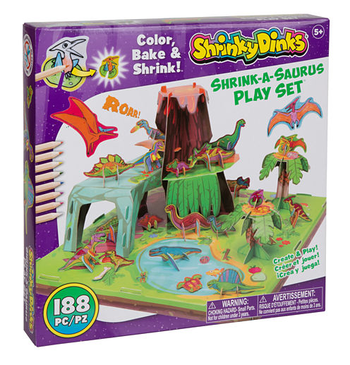 Shrinky Dinks Shrink A Saurus Play Set