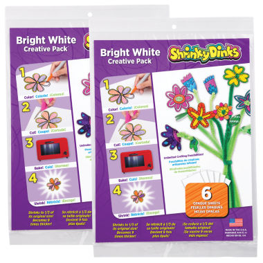 jcpenney.com | Shrinky Dinks Creative Pack 12 Sheets Bright White