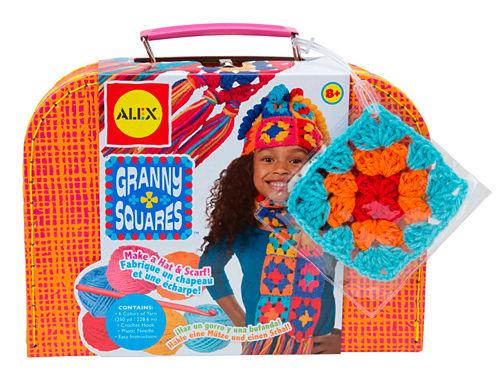 ALEX Toys Craft Granny Squares Crochet Kit