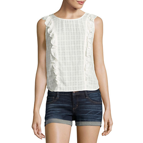 Arizona Sheer Ruffle Top- Juniors