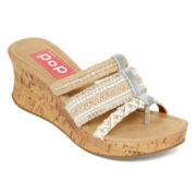 Pop Trail Platform Wedge Thong Sandals