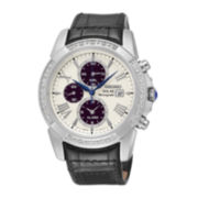 Seiko® Le Grand Sport Mens Diamond Chronograph Solar Watch SSC311