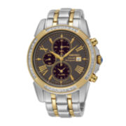 Seiko® Le Grand Sport Mens Diamond Chronograph Solar Watch SSC312