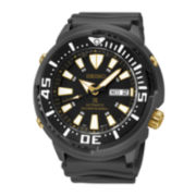 Seiko® Prospex Mens Black Strap Automatic Diver Watch SRP641