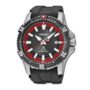Seiko® Prospex Mens Black Strap Diver Solar Watch SNE383