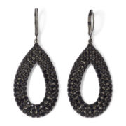 Vieste® Jet Rhinestone Hematite Teardrop Earrings