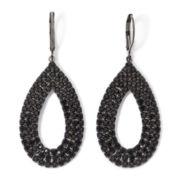 Vieste® Jet Rhinestone Hematite Teardrop Earrings