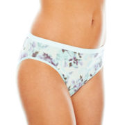 Ambrielle® Natural Comfort Tailored High-Cut Panties