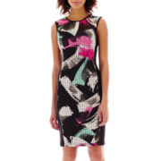 Bisou Bisou® Sleeveless Print Laser-Cut Dress