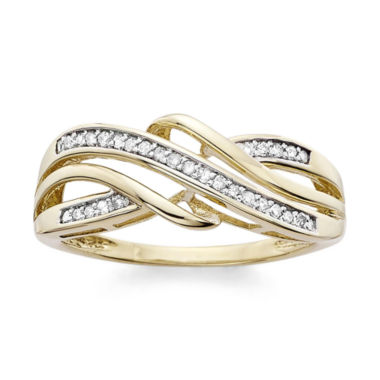 jcpenney.com | 1/7 C.T. T.W. Diamond 10K Yellow Gold Criss-Cross Ring