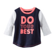 OshKosh B'gosh® 3/4-Sleeve Athletic Tee - Girls 4-7