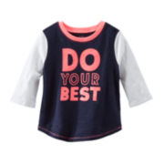 OshKosh B'gosh® 3/4-Sleeve Athletic Tee – Girls 2t-5t