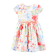 Carter's® Sateen Floral Dress – Girls 2t-5t