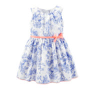 Carter's® Sateen Porcelain Easter Dress – Girls 2t-5t
