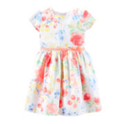 Carter's® Sateen Floral Easter Dress – Girls 4-6x