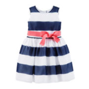 Carter's® Crepe Striped Easter Dress – Girls 4-6x