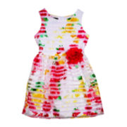 by&by Girl Striped Floral Dress — Girls 7-16