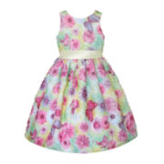 American Princess Sleeveless Box Skirt Dress – Girls 7-12
