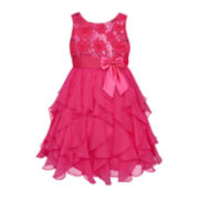 American Princess Sleeveless Sequin Soutache Dress – Girls 7-16