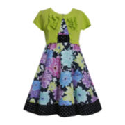 Bonnie Jean® Floral Dress with Cardigan — Girls Plus