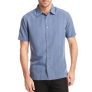 Van Heusen® Short-Sleeve Textured-Stripe Shirt