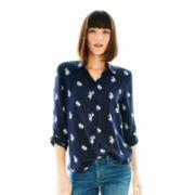 Joe Fresh™ Long-Sleeve Garment-Dyed Print Shirt