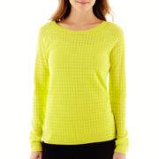 a.n.a® Long-Sleeve Fine-Gauge Mesh Sweater