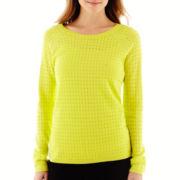 a.n.a® Long-Sleeve Fine-Gauge Mesh Sweater
