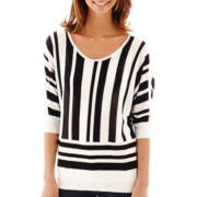 a.n.a® Striped Dolman-Sleeve Sweater