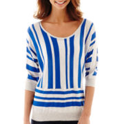 a.n.a® 3/4-Sleeve Striped Sweater