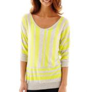 a.n.a® Striped Dolman-Sleeve Sweater