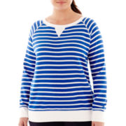 Made For Life™ Long-Sleeve Striped Sweatshirt - Plus