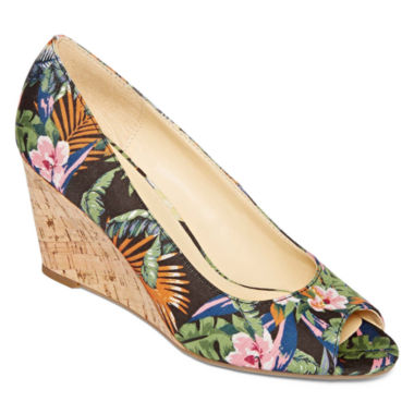 jcpenney.com | Liz Claiborne® Paula Peep-Toe Wedge Pumps