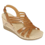 Yuu™ Greta Strap Wedge Sandals