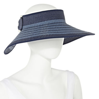 jcpenney.com | Manhattan Hat Company® Striped Blue Visor Hat
