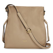 Perlina Mackenzie Drawstring Leather Shoulder Bag