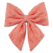 Carole Peach Flower Lace Hair Bow