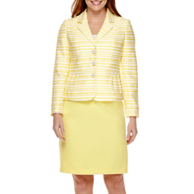 jcpenney.com | Isabella Long-Sleeve Striped Jacket and Solid Skirt Suit Set
