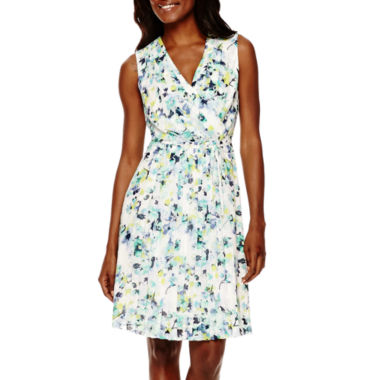 jcpenney.com | Liz Claiborne® Sleeveless Floral Fit-and-Flare Dress