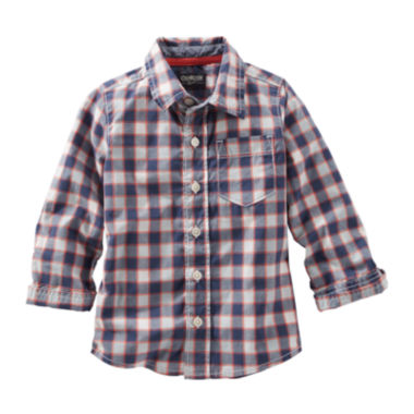 jcpenney.com | OshKosh B'gosh® Long-Sleeve Plaid Button-Front Shirt - Preschool Boys 4-7
