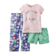 Carter's® 3-pc. Short-Sleeve Pajama Set - Baby Girls 12m-24m