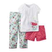 Carter's® 3-pc. Short-Sleeve Pajama Set -Baby Girls12m-24m