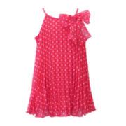 Lilt Coral Polka Dot Dress - Toddler Girls 2t-5t