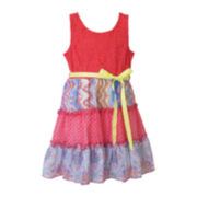 Lilt Empire Waist 3-Tiered Lace Dress - Preschool Girls 4-6x