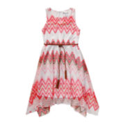 Emily West® Sharkbite Sundress with Belt - Girls 7-16