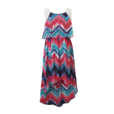 jcpenney.com | Lilt Sleeveless Chevron Sundress - Girls 7-16