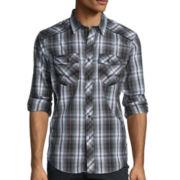 Rerun by Chalc Long-Sleeve Plaid Poplin Shirt